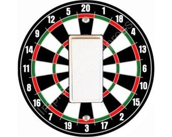 Darts Dartboard Decora Rocker Switch Plate Cover