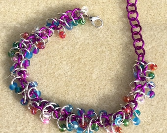 Shaggy loops chainmaille bracelet