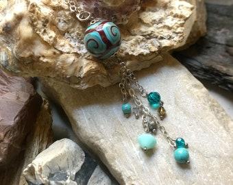 Ocean Waves - Playful Boho Dangling Pendant Necklace