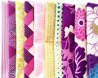 Joel Dewberry Bungalow fabric: fat quarter set of 10, Bramble palette