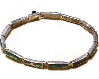 Vintage Silver Mexico Southwestern tennis bracelet