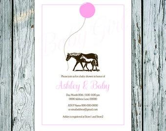 Pony Baby Shower Invites