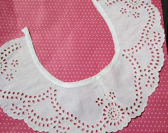 Antique Lace Vintage Lace Collar Eyelet Whitework Embroidery