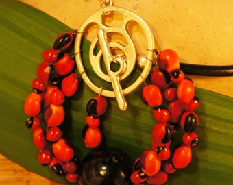 Amazonian seed necklace