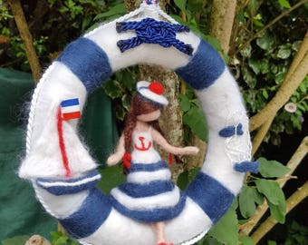 Walking sea decoration with felted needle fairies Waldorf Inspiration