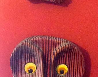 Vintage Wooden Owls