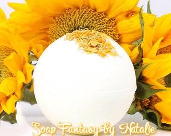 Hello,Sunshine!Bath Bomb-Bath Bomb with Calendula Petals-Bath Fizz-Big Bath Bomb
