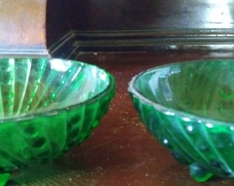 Mid Century Anchor Hocking Burpel Fruit Bowls Set of 3