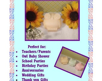 Who's Who Owl Soap, 10 OWL SOAPS {Favors} - Owl Baby Shower Favor, Owl Birthday Favor, Hoot shower, First Birthday Whoos 1, Soap Favor