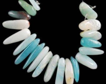 Beautiful set of 10 beads of amazonite