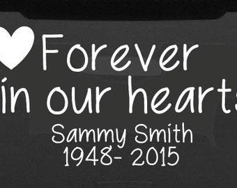 In Loving Memory Car Decal