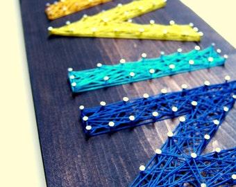 Five Letters Modern String Art Tablet