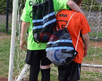 Mesh Backpack- Personalized for Sports, Dance, School, Shell Collecting, Shopping