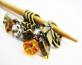November Flowers Non-Snag Stitch Markers