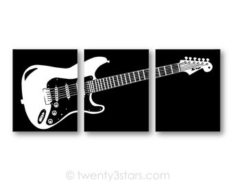 Electric Guitar Art Prints, Guitar Canvas Art, Gift for Guitarist, Guitar Wall Art, Guitar Canvas Art, Guitar Posters, Guitar Player Gift