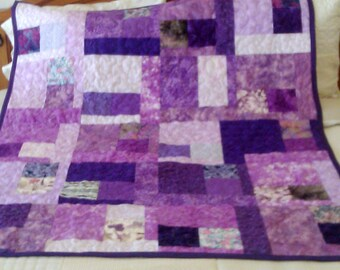 Lap Quilt Scrappy Purple Passion - SALE SALE SALE