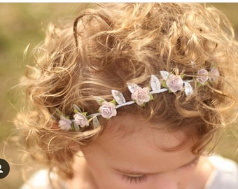 Baby halo,silver leaf halo ,boho chic, flower crown