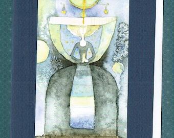 Scale (zodiac sign), Folding card