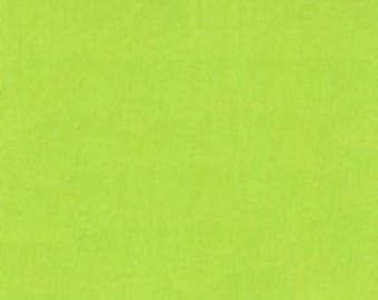 Clothworks Solid Lime Certified Organic Cotton Fabric for Modern Contemporary Quilters Y0890-18