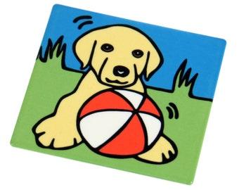 Yellow Labrador Retriever Puppy/Yellow Labrador Retriever/ Yellow Lab Puppy/Dog/Puppy Metal Magnet