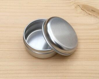 Round Metal Tins, Silver Color 15ml Tin Box, Lip Balm Box, DIY Container, Small Storage Box, Small Organizer