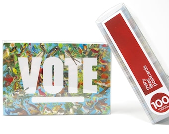 State Birds Political Postcards: 100 Vote postcards, perfect for writing to your reps or get out the vote