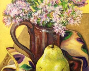 Fall Still Life, 8x10 acrylic painting