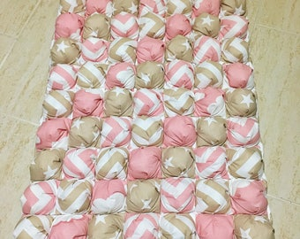 Pink Baby Blanket Baby Bedding Bumper Baby Girl Quilt Baby Crib Cover Bed Nursery Crib Bumper Baby Shower Gift Patchwork New Baby Safety
