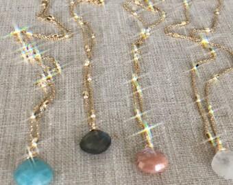 Mekena necklace- amazonite (far left)