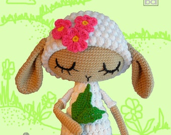 Amigurumi crochet pattern sheep lamb crochet tutorial PDF Amigurumi doll crochet pattern Amigurumi animal pattern Crochet toy pattern pdf