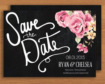 Save the Date // Printable, DIY Wedding, Custom Designs