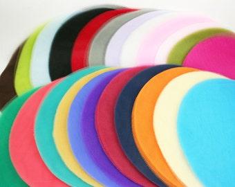 "9"" STRAIGHT edge Sheer TULLE CIRCLES 25 Pieces Party Favor WrapsChoose Color"