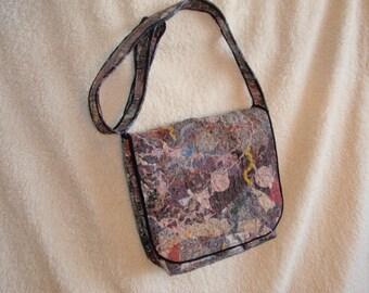 Patchwork bag ,MultiColored Handbag, Women's Messenger Bag, Multicolor Purse, Crossbody Bag, Multicolor Messenger,Bag student,carrying books