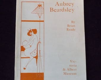 1966 V&A Museum Exhibition Aubrey Beardsley Catalogue by Brian Read B/W Full Page Illustrations