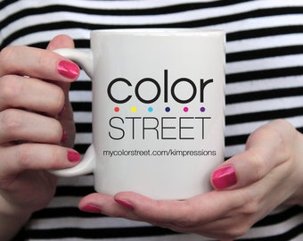 Logo Mug - Color Street Mug - Promotional Products - Color Street Cup - Photo Prop