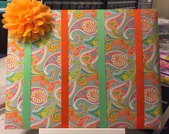 colorful handmade bow organizer, bow board, bow holder