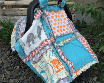 Carseat Cover PATTERN - Simple Quilt Pattern - How to Make a Rag Quilt - Rag Quilt Pattern - Car Seat Cover Pattern - Carseat Canopy Pattern