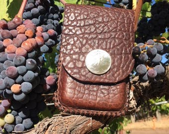 Genuine leather cell phone case for belt
