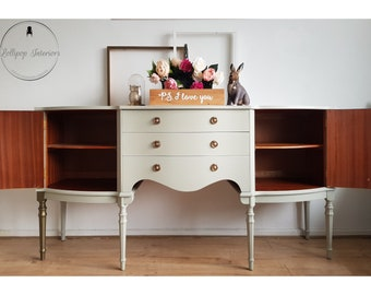 Pale grey green sideboard