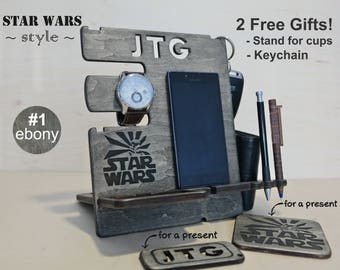 Star Wars Docking station, Gift for Men, Gift for Him, Gift for Husband, Gift for Dad, present for him, birthday gift, Fathers day gift mens