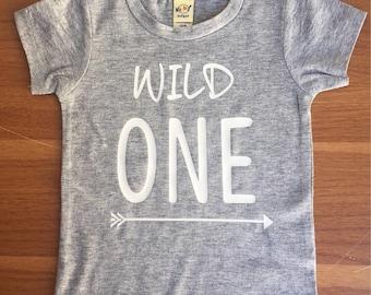Wild ONE Shirt. Arrow. Wild One Birthday Shirt, 1st Birthday Shirt Boy, Wild and One, First Birthday Shirt Boy, Boys First Birthday Outfit