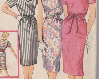 Bust 32-FACTORY FOLDED 1960's Misses' Dress Simplicity 3780 Sz 12