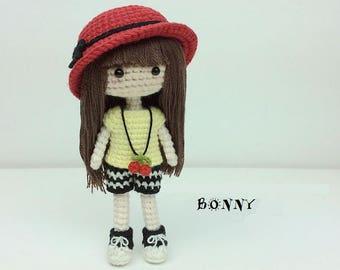 crochet girl pattern, amigurumi doll pattern, cute little girl pattern