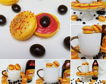 Kahlua Boozy Gourmet French Macarons 1 dozen 12 Macaroons Baked Goods Buttercream Rum Coffee Birthday Party Cookies Alcohol