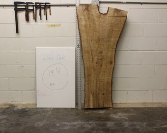 interior live oak live edge slab