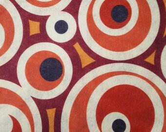 "Printed Felt Rectangle: Mod Circles (9""x12"")"