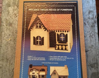 Vintage Unopened Arty The Bobbi Wood Dollhouse Kit Model Number 66