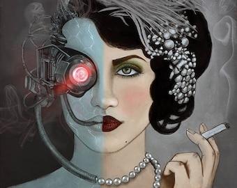 Illustrated art print, Oscillation