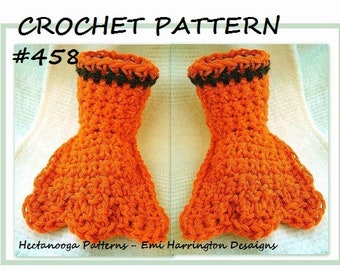 CROCHET PATTERN, Duck Feet Slippers, Play clothes, costume feet. Halloween, pattern number 458