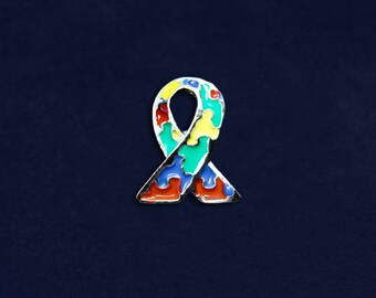 Autism Ribbon Lapel Pin (RE-P-06-2)